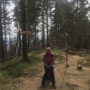 Veronika Pastorková na vrcholu Malý Polom (15.4.2018 10:24)