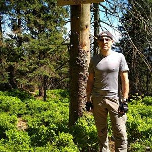 Aleš Sýkora na vrcholu Malý Polom (6.5.2018 12:04)