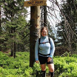 Martina na vrcholu Malý Polom (8.5.2018)