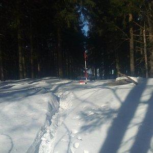 Jan Zamarski na vrcholu Malý Polom (26.1.2020 10:55)