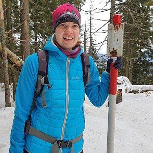 Hana Lančová na vrcholu Malý Polom (18.1.2020 12:04)