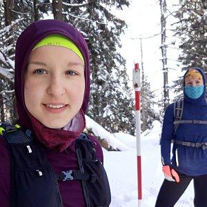Hanka Ličková na vrcholu Malý Polom (22.2.2020 15:26)