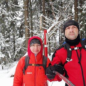Dana + jirka na vrcholu Malý Polom (22.2.2020 12:12)