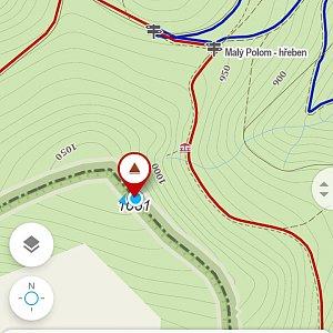 Michaela Karásková na vrcholu Malý Polom (5.4.2020 13:38)