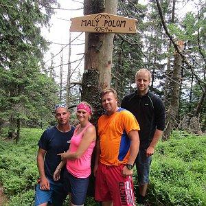 Jan Juchelka na vrcholu Malý Polom (16.6.2018 12:24)