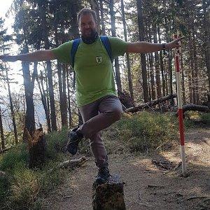 Petr Zajac na vrcholu Malý Polom (26.4.2020 8:43)