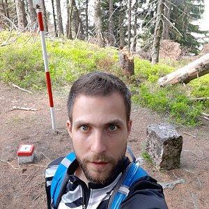 Filip Šimon na vrcholu Malý Polom (17.5.2020 13:06)