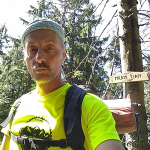 Jiří Sumbal na vrcholu Malý Polom (13.8.2018 12:37)