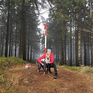 Michelle Sýkorová na vrcholu Malý Polom (17.11.2020 13:07)