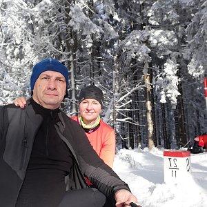 Dana + jirka na vrcholu Malý Polom (10.1.2021 12:26)