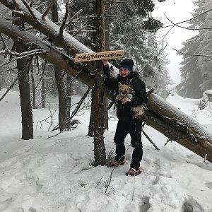 Szegidewiczová Alexandra na vrcholu Malý Polom (6.2.2021 16:57)