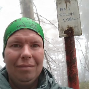 Michal Krčmář na vrcholu Malý Polom (28.4.2019 11:39)