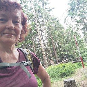 Anna na vrcholu Malý Polom (20.6.2021)