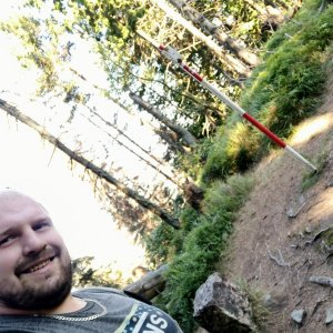 Petr Petrik na vrcholu Malý Polom (9.9.2021 15:55)