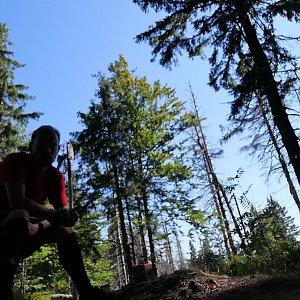 Jan Zamarski na vrcholu Malý Polom (10.9.2021 14:22)