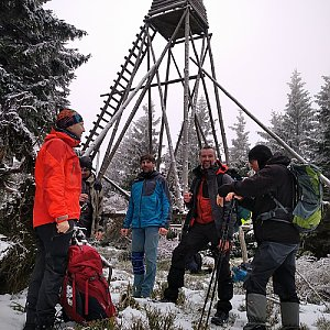 Smoula na vrcholu Černý vrch (12.12.2020 13:25)