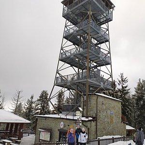 Petr Bartoň na vrcholu Velká Čantoryje / Czantoria Wielka (24.1.2021 18:53)