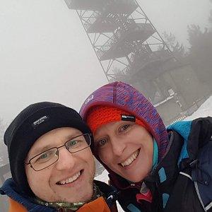 Michaela Karásková na vrcholu Velká Čantoryje / Czantoria Wielka (23.1.2021 14:43)