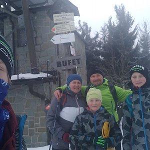 trefi.s na vrcholu Velká Čantoryje / Czantoria Wielka (6.2.2021 12:00)