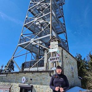 Jiří Gryz na vrcholu Velká Čantoryje / Czantoria Wielka (10.4.2021 11:25)