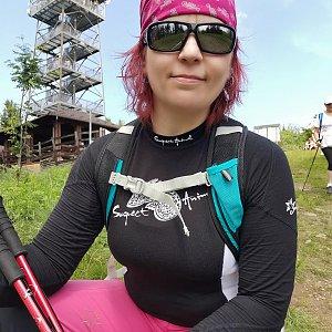 Daniela Vajsová na vrcholu Velká Čantoryje / Czantoria Wielka (27.6.2021 11:17)