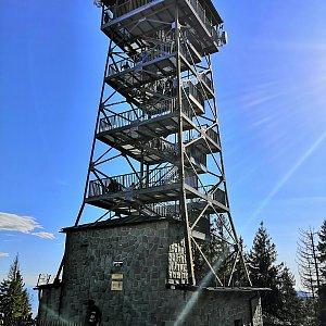 Radka Nezvalová na vrcholu Velká Čantoryje (13.10.2019 13:21)
