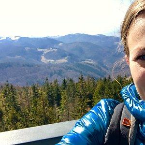 Barbora Dreslerová na vrcholu Velká Čantoryje (30.3.2018 10:57)