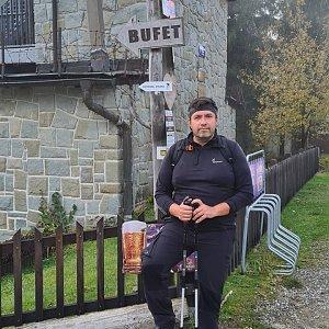 Jiří Gryz na vrcholu Velká Čantoryje (24.10.2020 14:20)