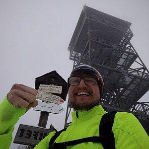pa3k.soyka na vrcholu Velká Čantoryje (25.1.2021 9:24)