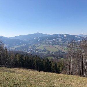 Barbora Pelcová na vrcholu Kotař - Salaš (2.4.2020 11:56)