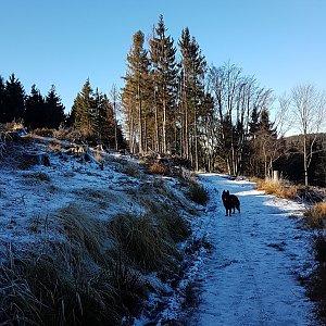 Michal na vrcholu Kotař - Salaš (19.12.2020 11:07)
