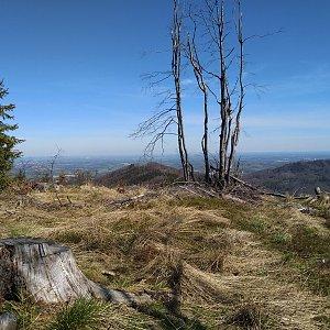 Monika na vrcholu Kotař - Salaš (9.5.2021 10:25)