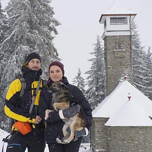 Michaela Hilscherová na vrcholu Kozubová (27.12.2019 12:42)