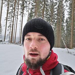 Jan Zamarski na vrcholu Kozubová (8.3.2020 10:02)