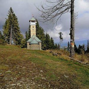 Jan Macháček na vrcholu Kozubová (16.10.2021 22:05)