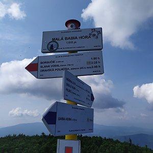 ŠenovKK na vrcholu Malá Babia hora (24.8.2019 12:46)