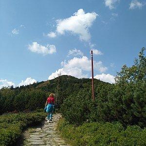 Alžběta Šlosarová na vrcholu Malá Babia hora (1.9.2019 13:49)
