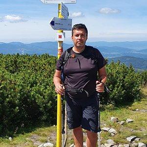 Jiří Gryz na vrcholu Malá Babia hora (2.8.2020 12:03)