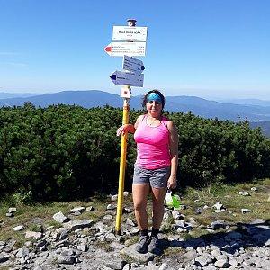 Jaroslava Bašová na vrcholu Malá Babia hora (11.9.2021 11:00)