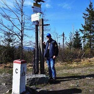 David Dudzik na vrcholu Kyčera (19.4.2020 16:38)