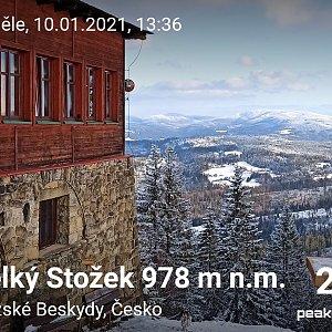 Priserka-xxl na vrcholu Velký Stožek / Stożek Wielki (10.1.2021 14:29)