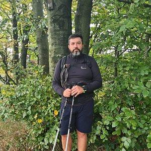 Jiří Gryz na vrcholu Velký Stožek / Stożek Wielki (10.10.2021 12:11)