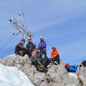 Lukáš Vaculík na vrcholu Hoher Dachstein (7.5.2018 12:00)