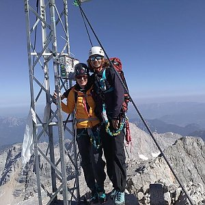 Pavla Lžičařová na vrcholu Hoher Dachstein (4.8.2018 11:55)