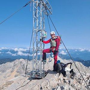 Martha MbFol Tová na vrcholu Hoher Dachstein (12.9.2020 21:12)