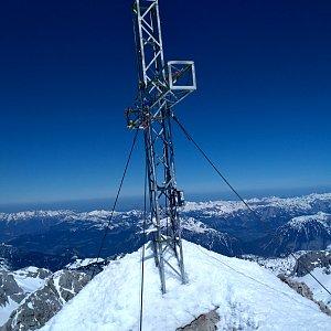 Alda na vrcholu Hoher Dachstein (20.4.2019 13:38)