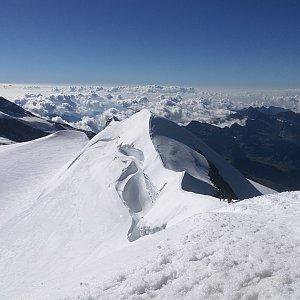 martenzites na vrcholu Castor / Punta Castore (27.7.2020 9:10)