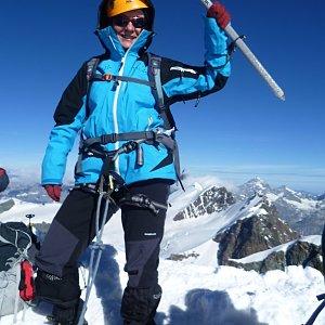 Anna na vrcholu Castor (4.8.2012 9:15)