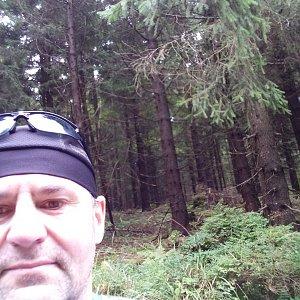 Li Be na vrcholu Huserka  (23.9.2021 12:53)