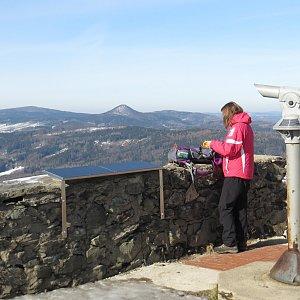 Iveta Válová na vrcholu Hvozd (23.2.2019 12:25)